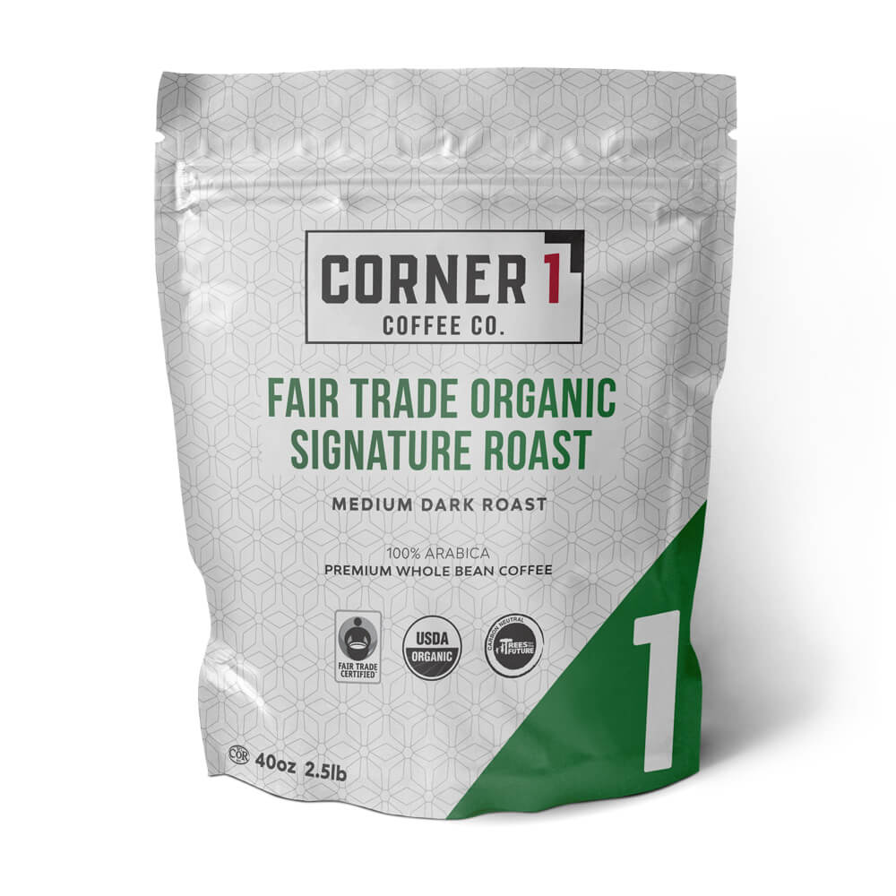 Fair Trade Organic Signature Roast Whole Bean Coffee