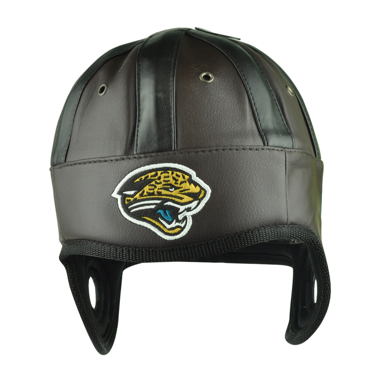 NFL Reebok Jacksonville Jaguars Game Day Retro Faux Leather Helmet Head Hat  Cap e3869dd41ef0