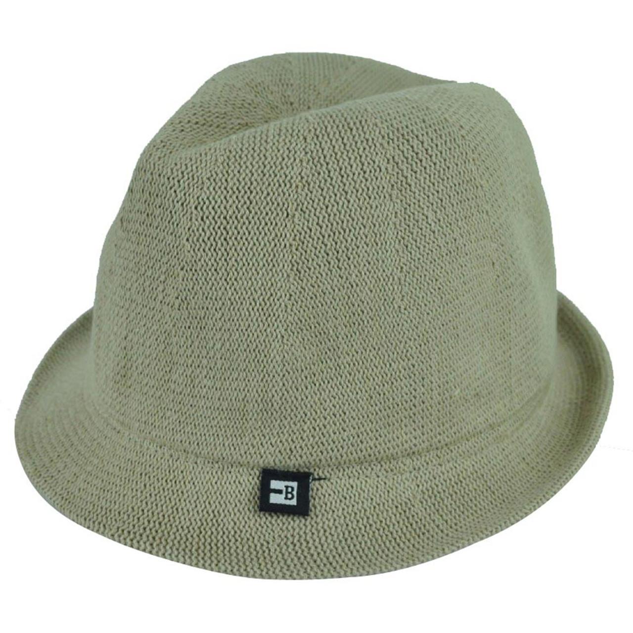 1db6bbfe858bc Block Headwear Dune Fedora Medium Relax Gangster Trilby Stetson Hat Solid  Khaki - Cap Store Online.com
