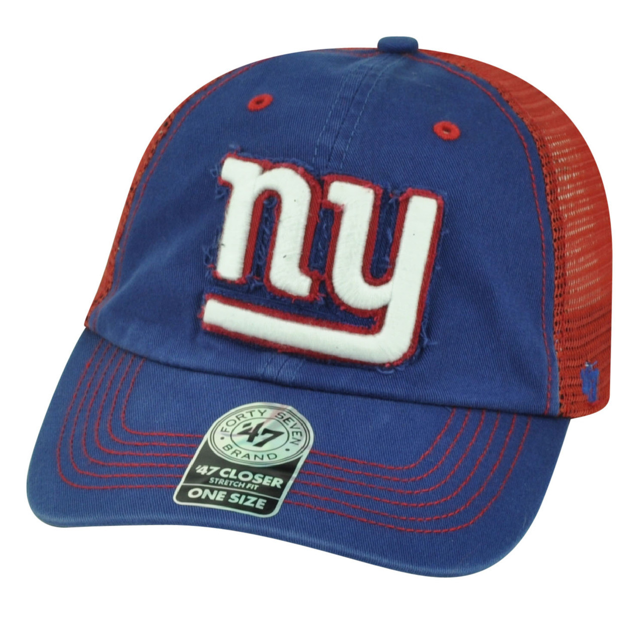 huge selection of 842ee 61ddd '47 Brand NFL New York Giants Flex Fit One Size Mesh Relaxed Hat Cap Taylor  Blue