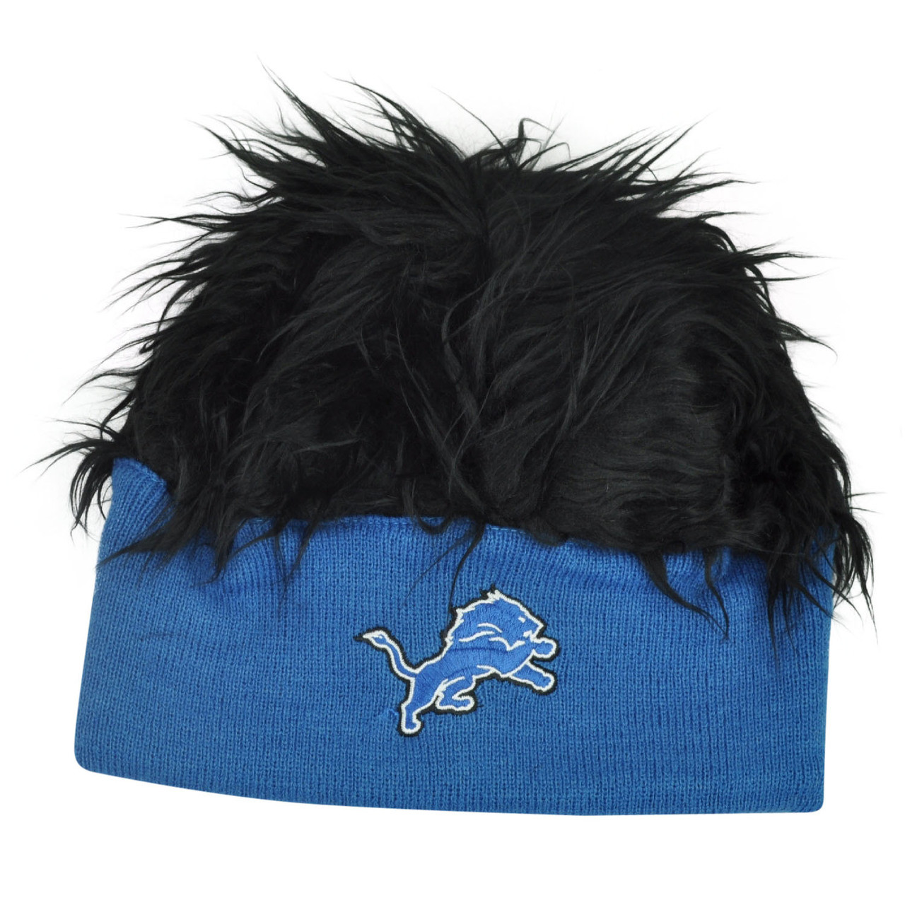 innovative design 73ab5 e7c1a NFL Detroit Lions Lure Fuzz Hair Headband Knit Beanie Fan Game Day Black  Hair