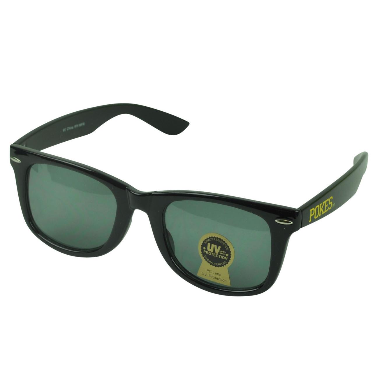NCAA Wyoming Cowboys Pokes Wayfarer Style Shade Sunglasses Glasses Plastic  Black