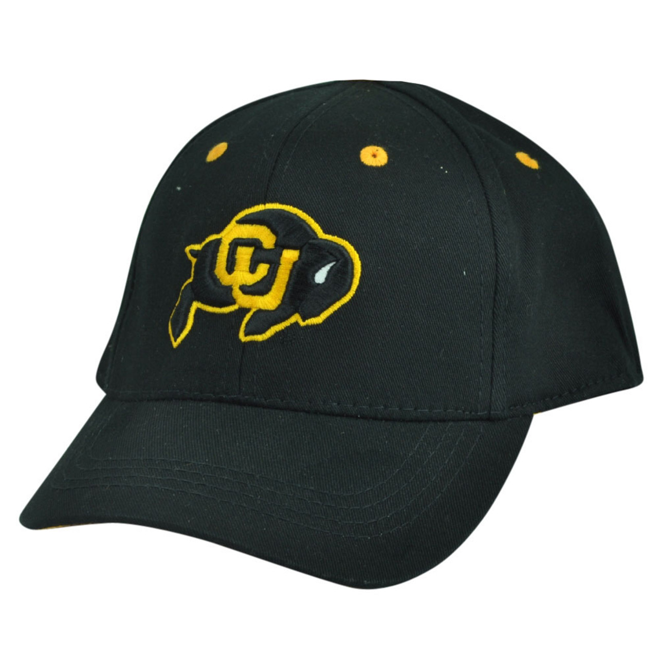 check out ed880 00d46 NCAA Colorado Buffaloes Top of the World Infant Fit Stretch Black Hat Cap  Buff - Cap Store Online.com
