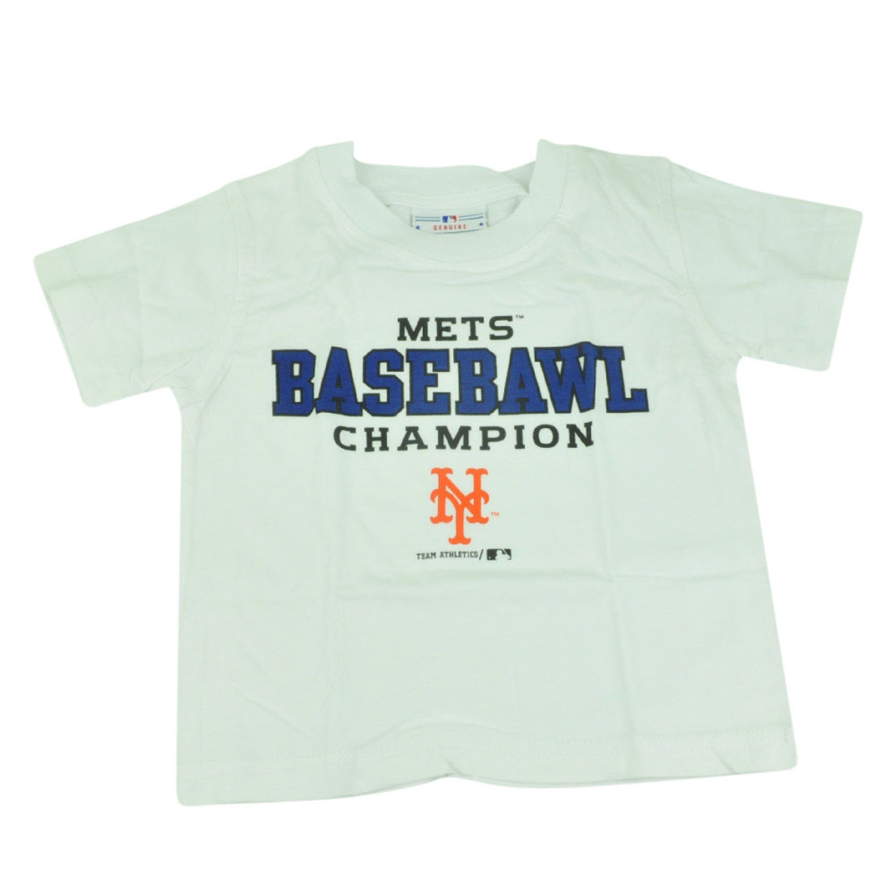 ccc8c562 MLB New York Mets NY Baseball Champion Toddler Tshirt Tee White Boys Shirt  - Cap Store Online.com