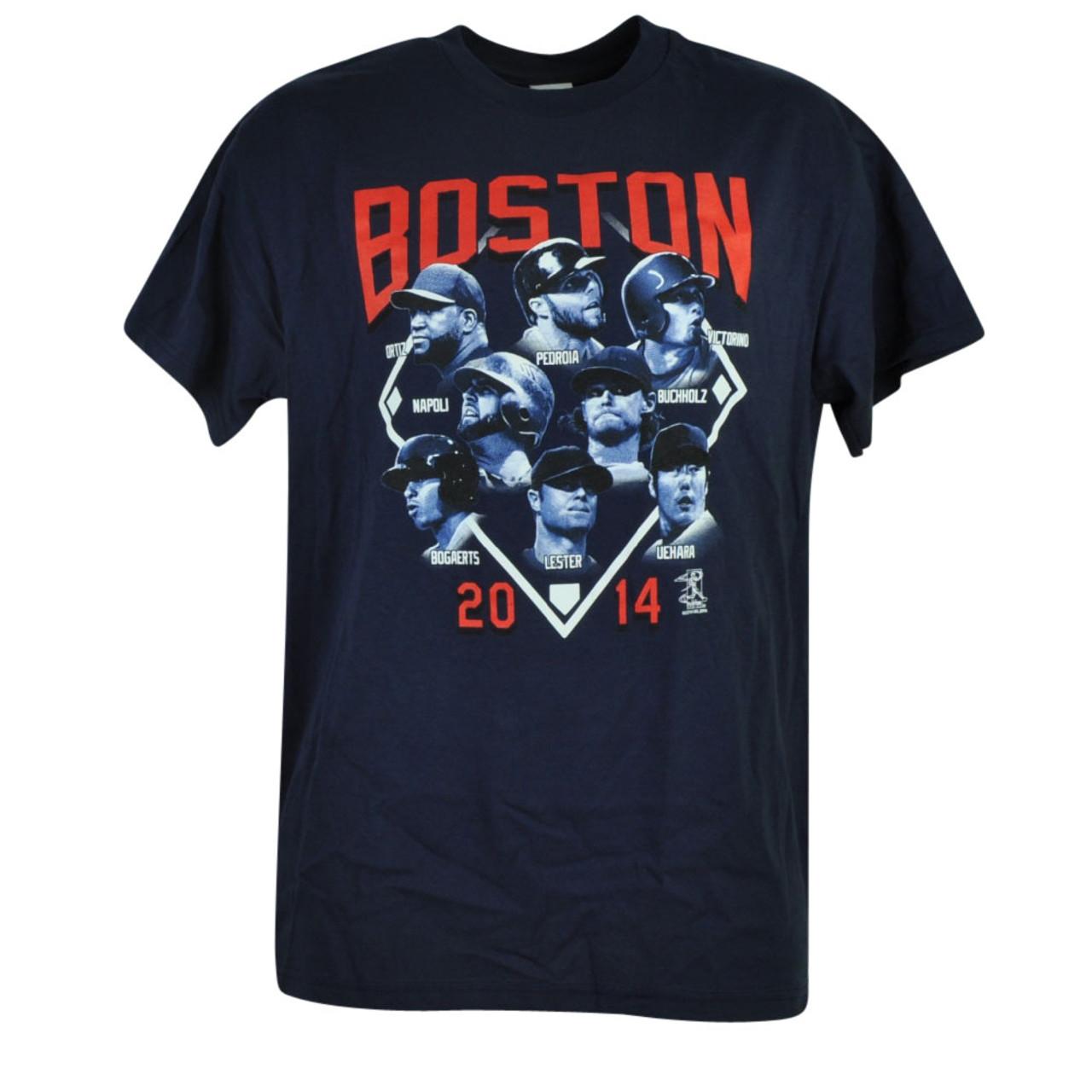 the latest 3d713 dba5f MLB Boston Red Sox Lester Pedroia Napoli Ortiz Victorino Buchholz Tshirt  Tee Men