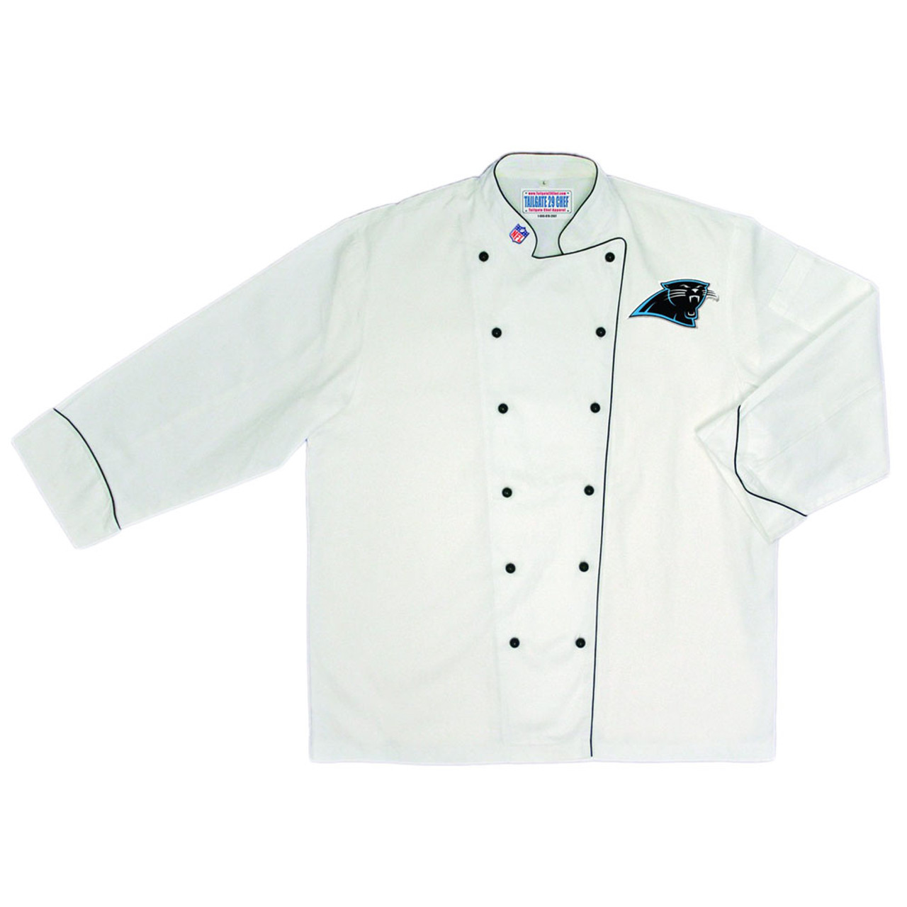 timeless design 17e9b 2a269 NFL Carolina Panthers Premium Chef Coat Professional Style Tailgate White