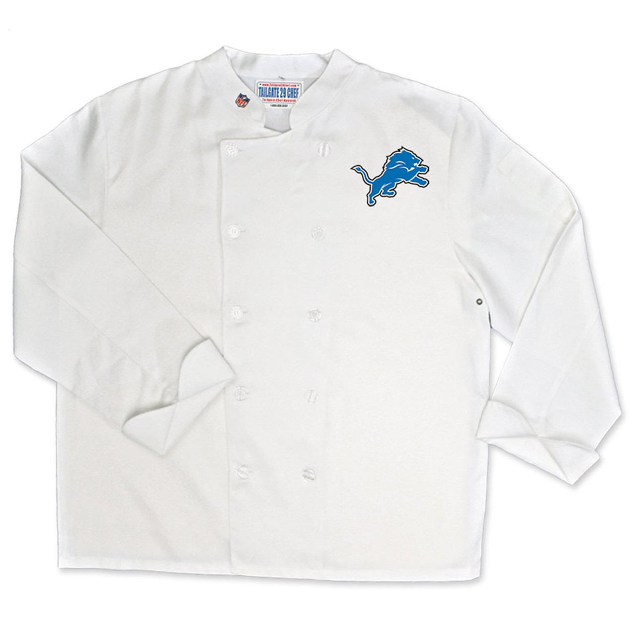 innovative design 6b1d4 897cf NFL Detroit Lions Classic Chef Coat Professional Style Tailgating White