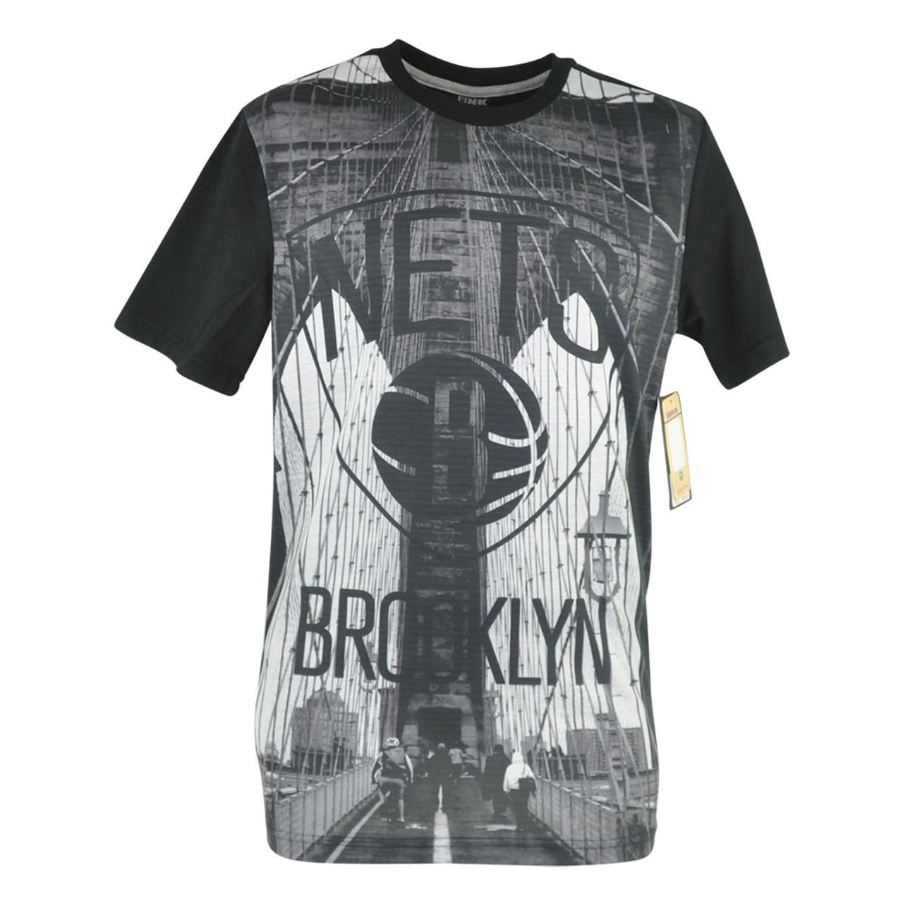 a37ce8366 NBA UNK Brooklyn Nets City Wide Bridge Graphic Tshirt Basketball Mens Tee -  Cap Store Online.com