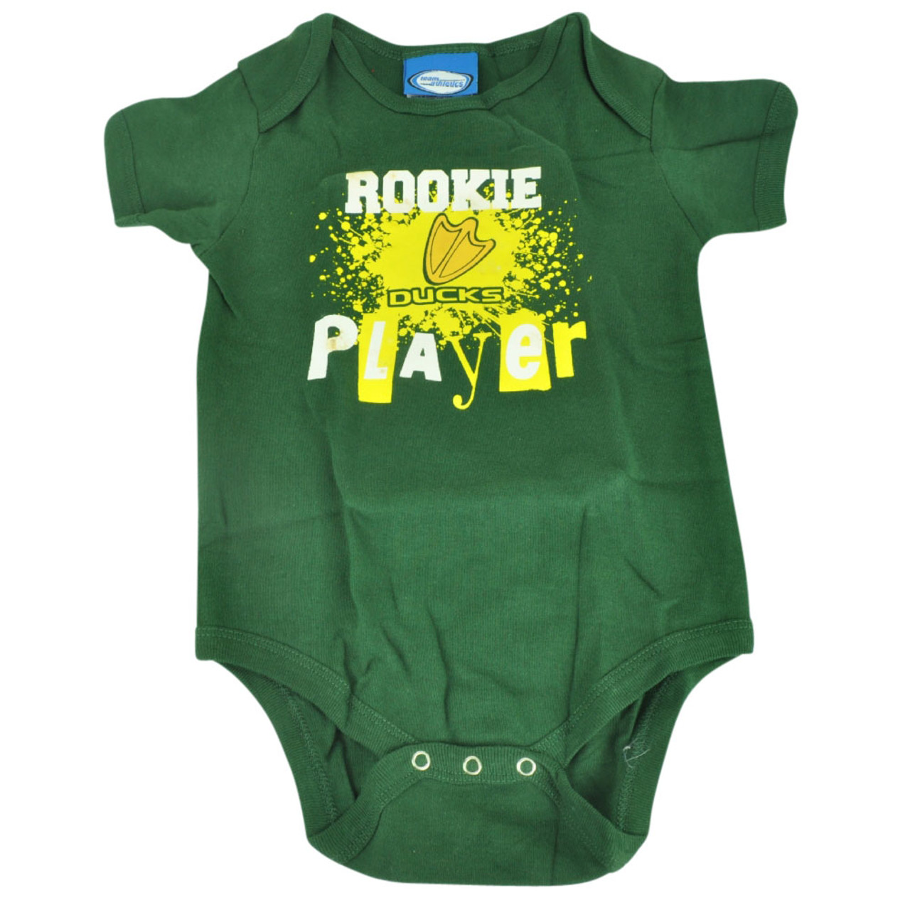 the best attitude 1a18f dc201 NCAA Oregon Ducks Wild Horse Rookie Player Infant Bodysuit Creeper Green