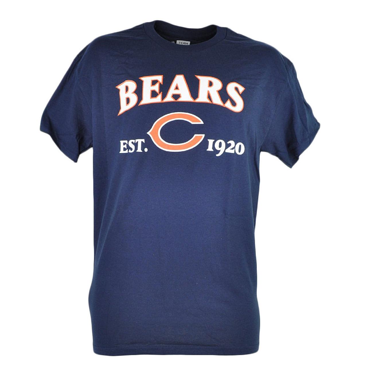 cheap for discount e031b fab6e NFL Chicago Bears Commissioner EST 1920 Football Men Tshirt Tee Navy Blue