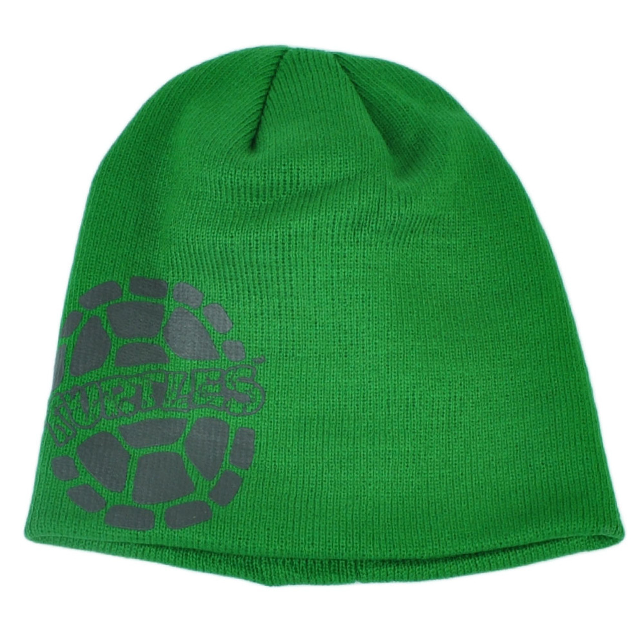 7b8eef387 Teenage Mutant Ninja Turtles Cuffless Knit Beanie Green Winter Cartoon Toque