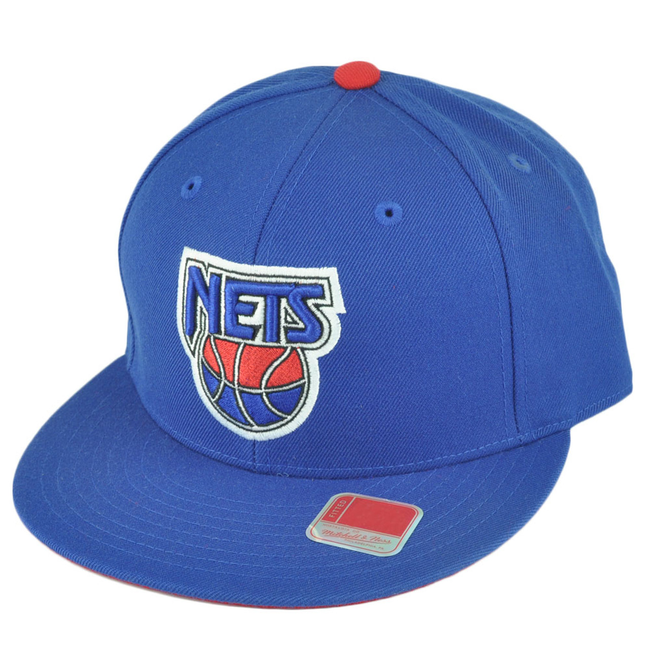best service 3c929 f36e5 NBA Mitchell Ness TK40 New Jersey Nets Fitted Alternate Blue Hat Cap