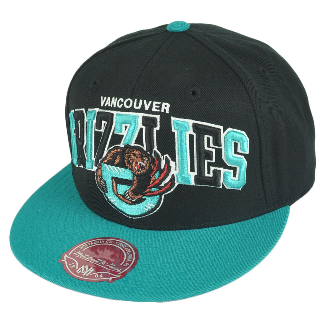 d3b14946299 NBA Mitchell Ness G022 Vancouver Grizzlies Multicolor Fitted Hat Cap - Cap  Store Online.com