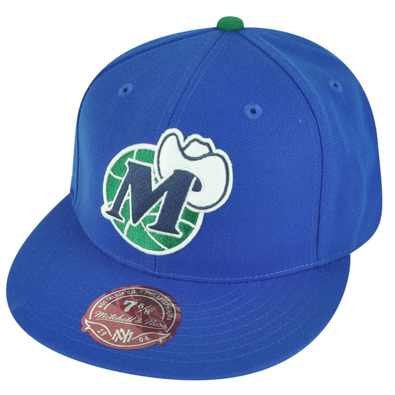 the best attitude 17f7c 25394 NBA Mitchell Ness TK07 Dallas Mavericks Blue Team Second Fitted Hat Cap -  Cap Store Online.com