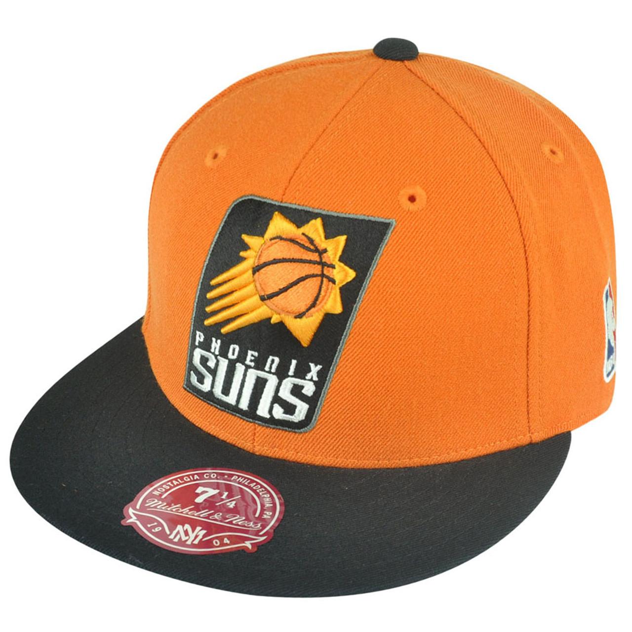 finest selection 4b072 6006c NBA Mitchell Ness Phoenix Suns G098 XL Logo 2-Tone Fitted Orange Hat Cap -  Cap Store Online.com