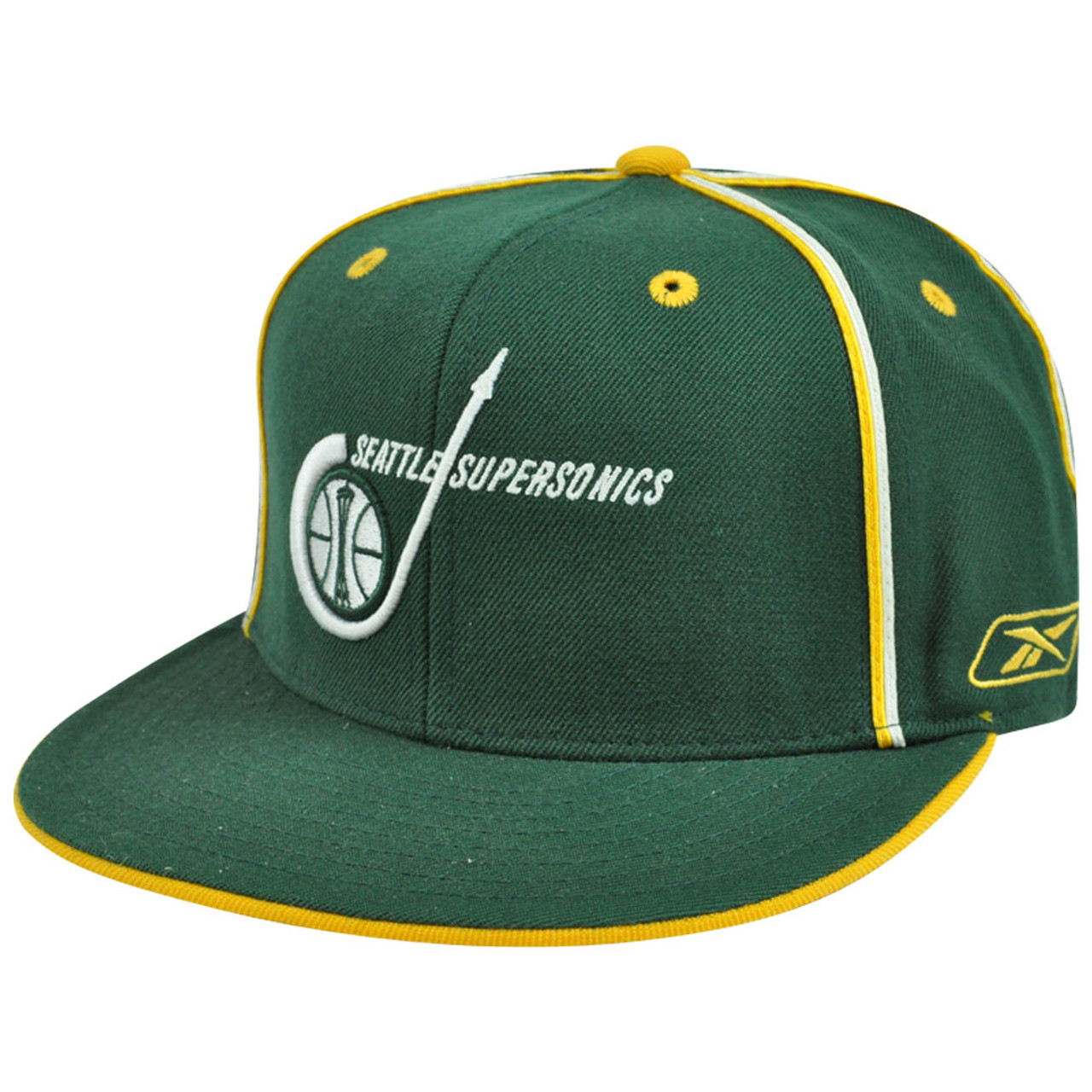 9b749e0a NBA HWC Reebok Hardwood Classics Seattle Supersonics Sonics T231S Fitted  Wool - Cap Store Online.com