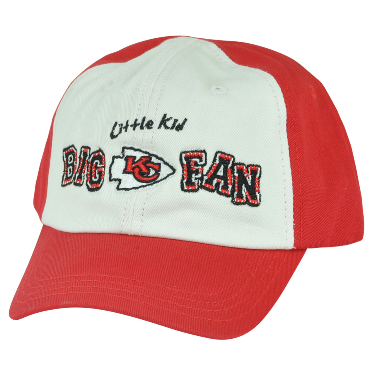4a832fd6 NFL Kansas City Chiefs Little Kid Big Fan Toddler Boys Garment Wash Red Hat  Cap