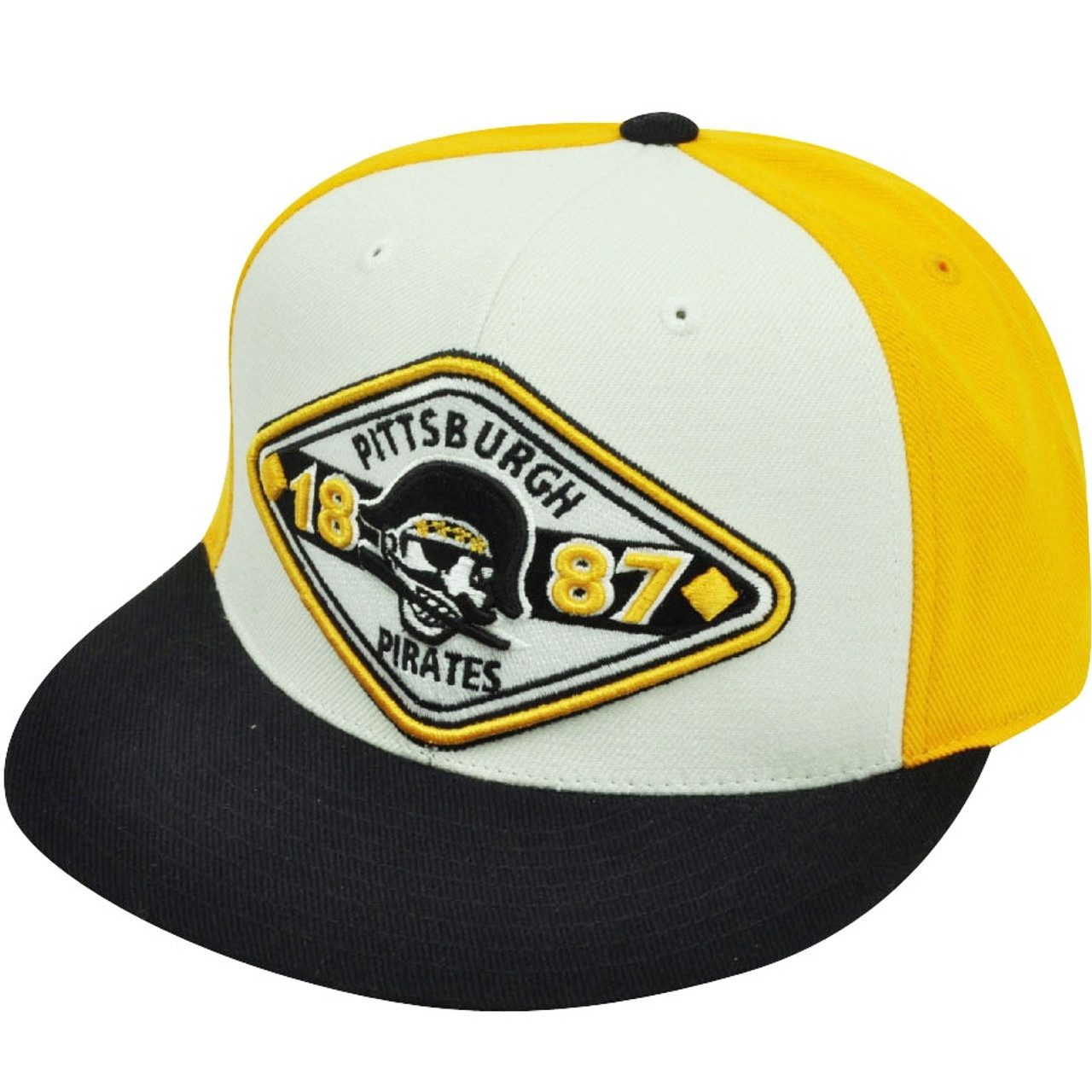 new concept d40bb 71284 MLB American Needle Pittsburgh Pirates Fitted Vintage Backtrax 7 1 4 Hat Cap  - Cap Store Online.com