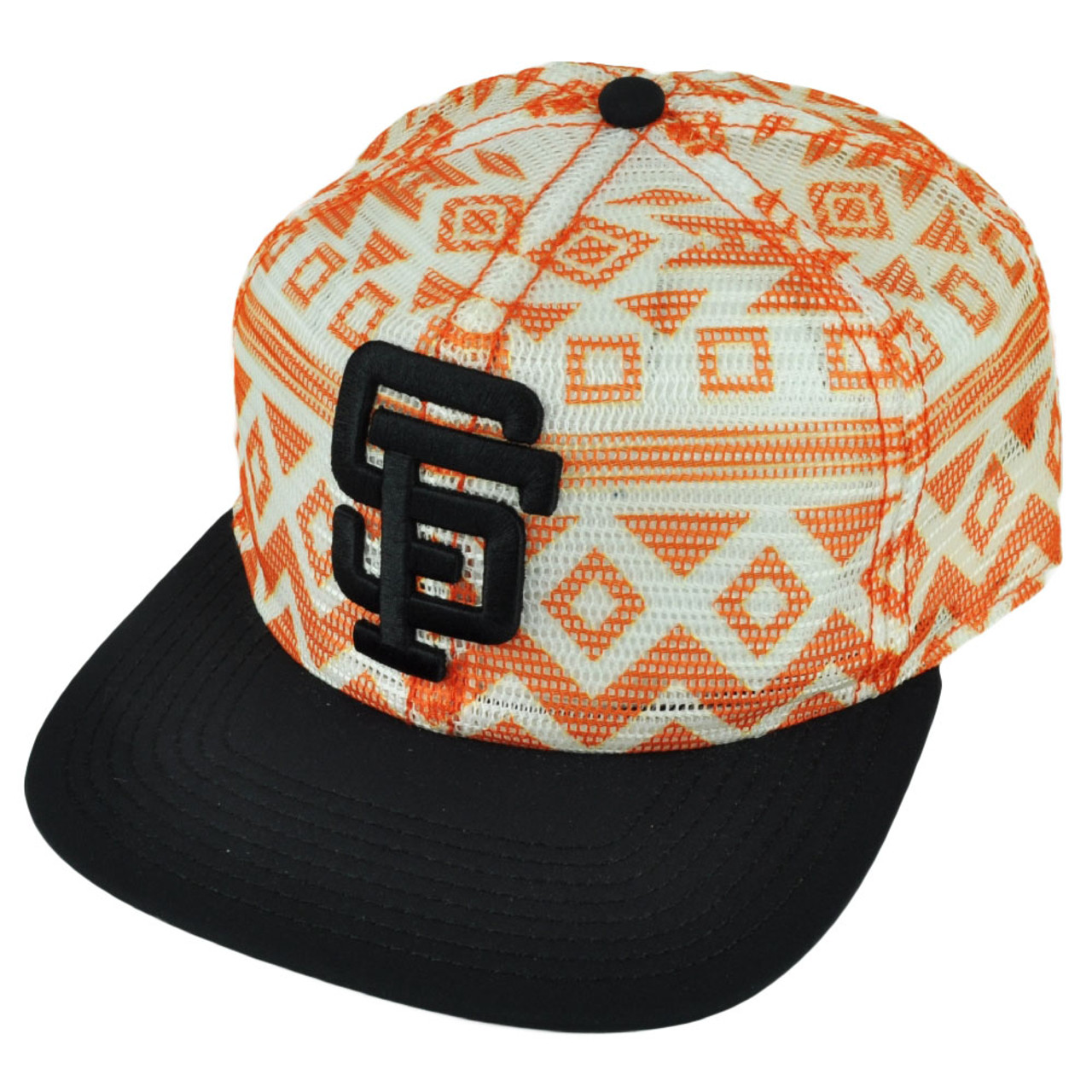 2d4b59680ae MLB American Needle San Francisco Giants Aztec Mesh Snapback Hat Cap Flat  Bill - Cap Store Online.com