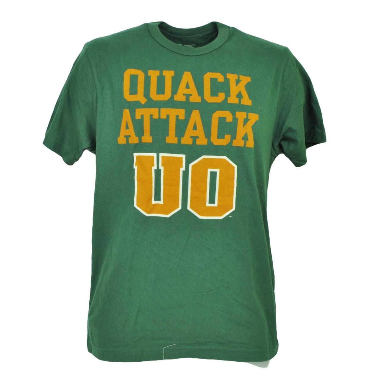 competitive price 43be4 cab2c NCAA Oregon Ducks Quack Attack Green Mens Adult TShirt Tee Crew Neck Sports