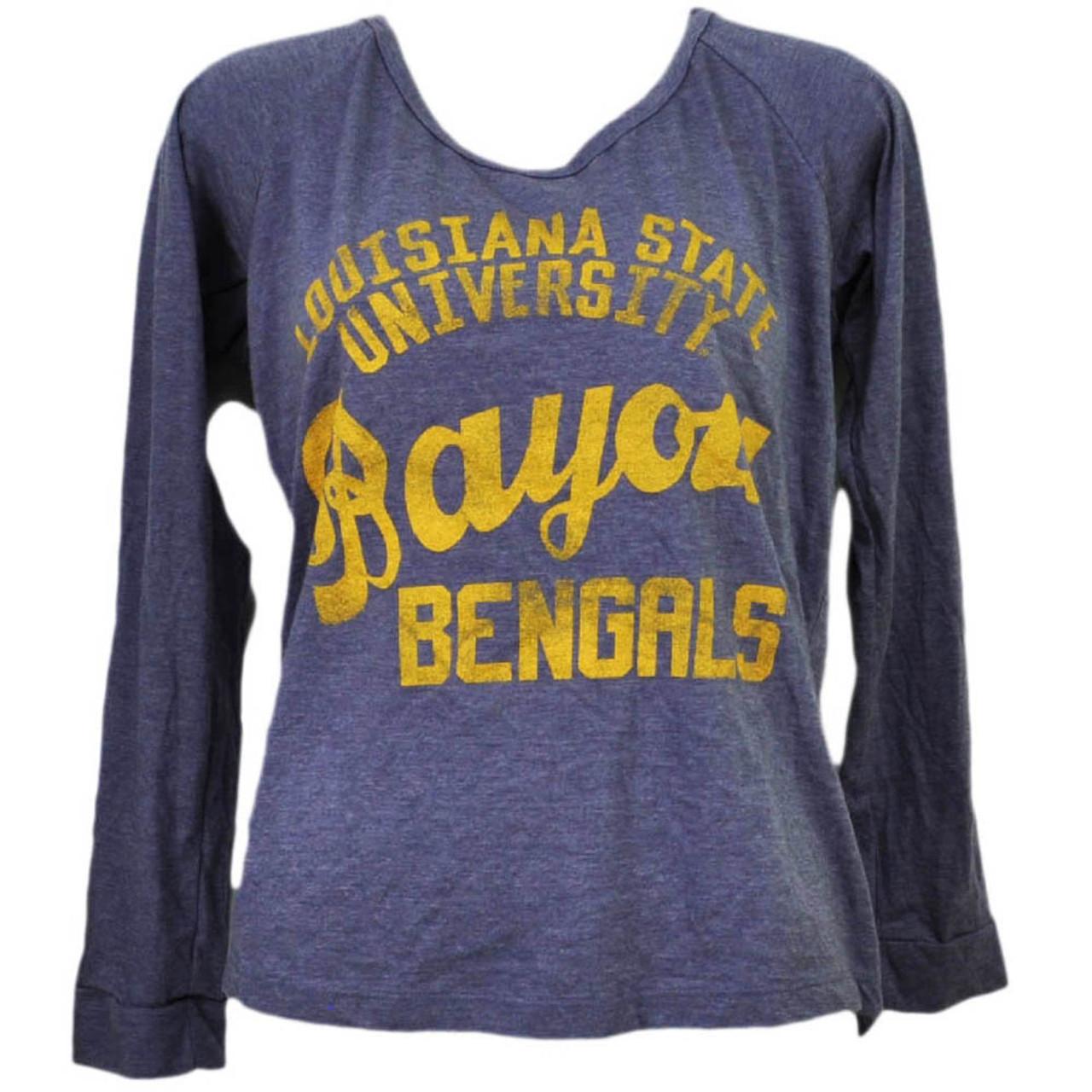 56c273921 NCAA Louisiana State Tigers LSU Bayou Bengals Womens Purple Long Sleeve  Tshirt - Cap Store Online.com