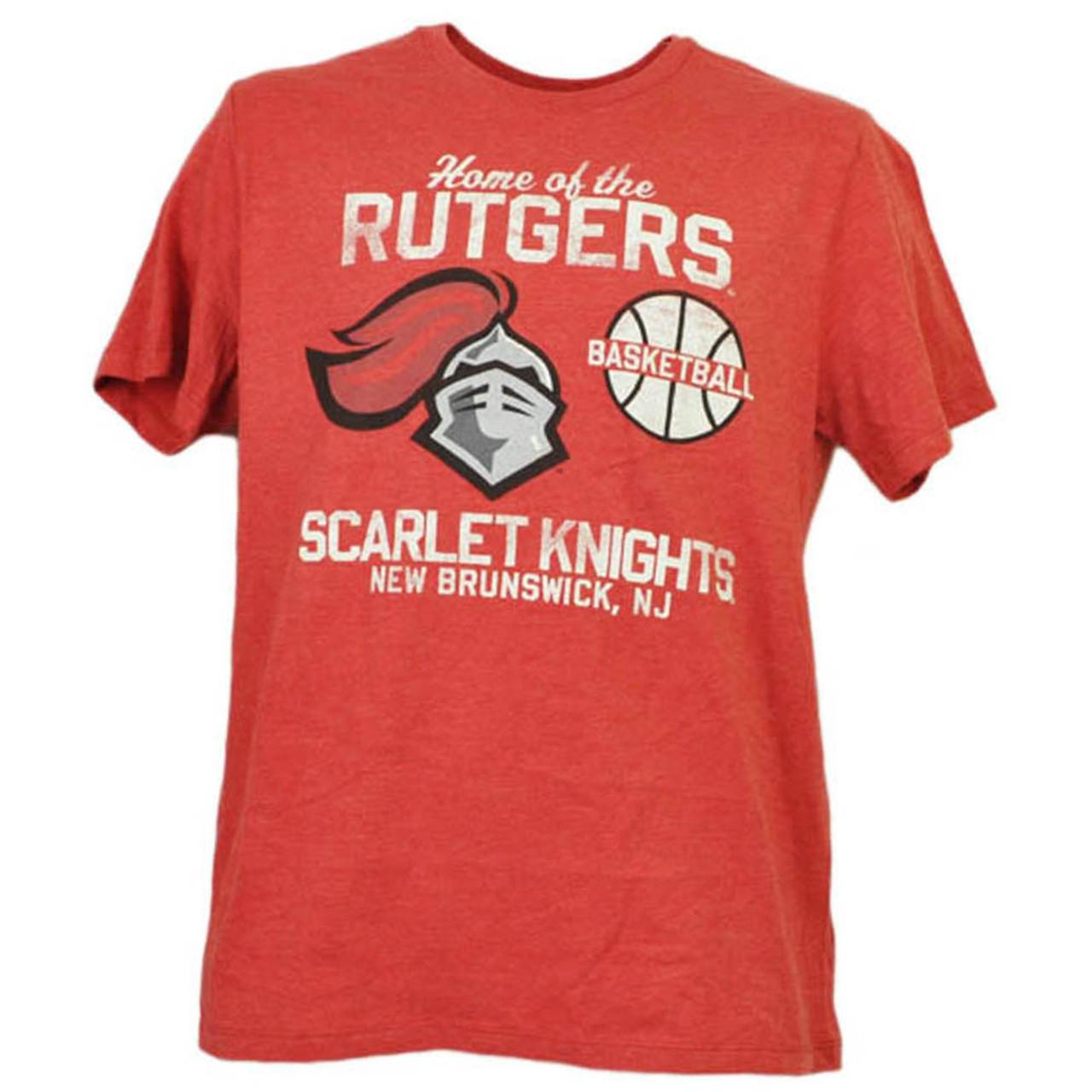 new style fd702 bb86b NCAA Rutgers Scarlet Knights Basketball New Brunswick NJ Red Tshirt Tee  Mens - Cap Store Online.com