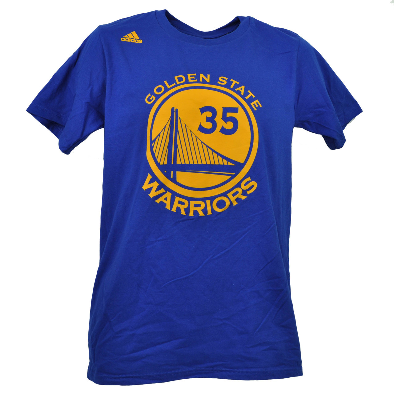 info for 37986 e7595 NBA Adidas Golden State Warriors Kevin Durant 35 Go To Tee Tshirt Blue Mens  HWC