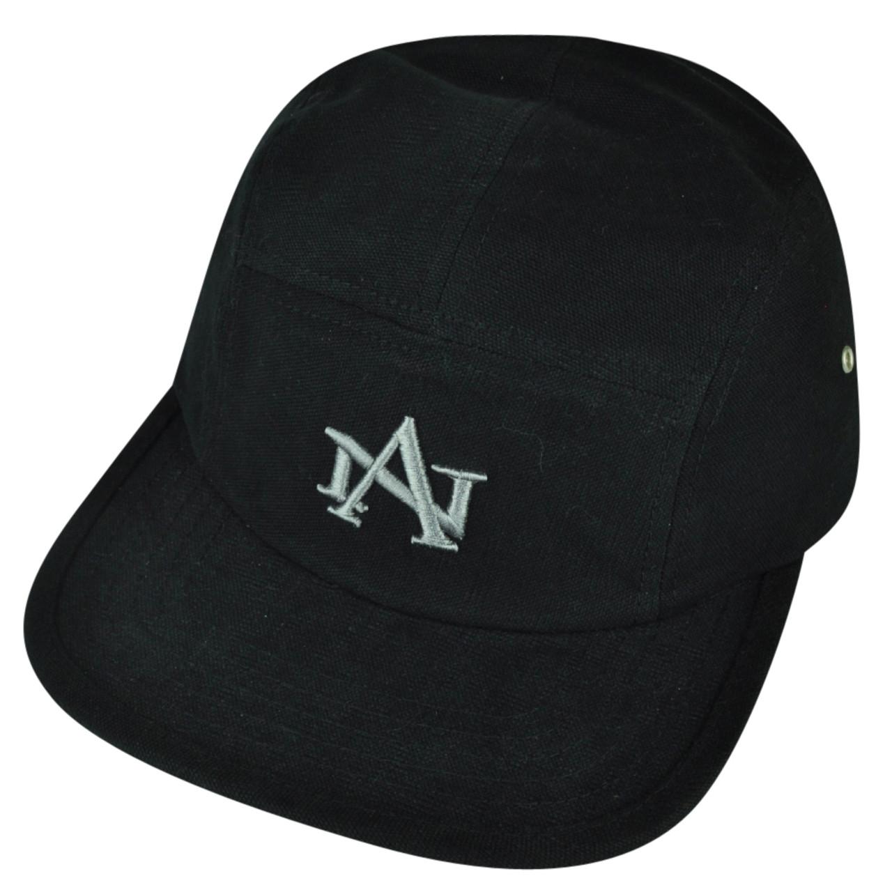 4e357262 American Needle Logo Clip Buckle Hat Cap Black Relaxed Brand Flat Bill  Adjustable - Cap Store Online.com