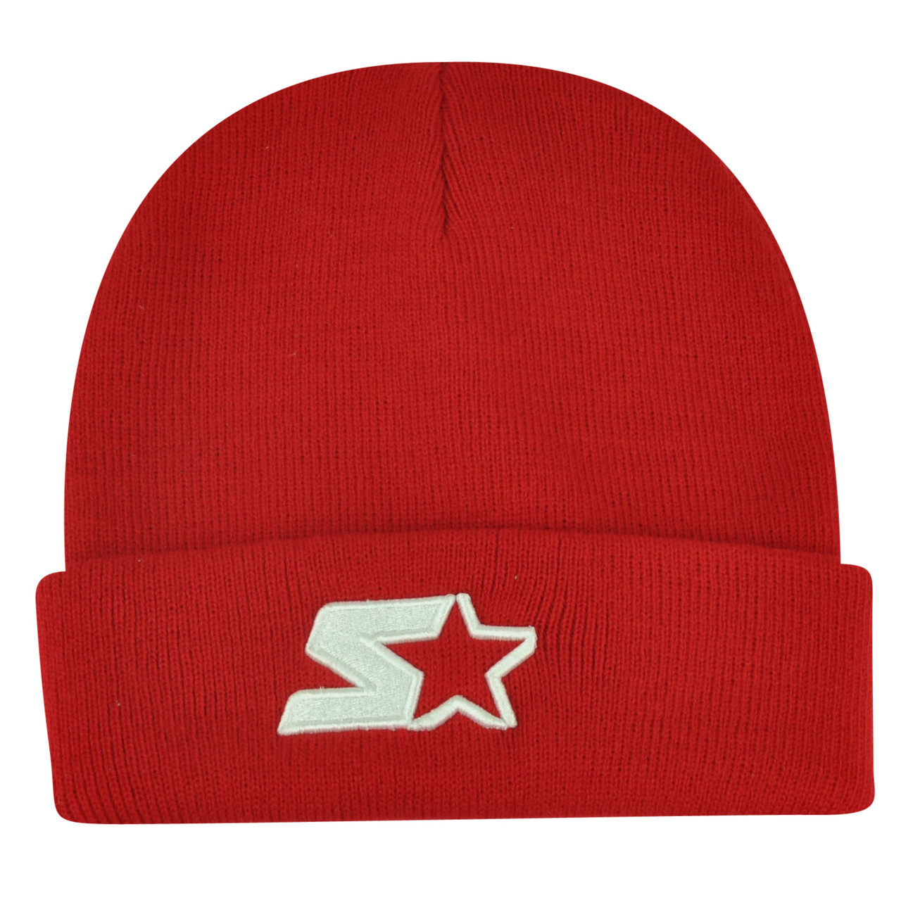 a2dd7cbd84e57 Starter Blank Red Knit Beanie Cuffed Toque Winter Hat Skully Plain Solid  Thick - Cap Store Online.com