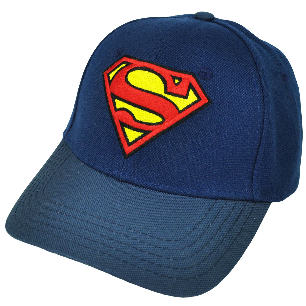 0267af132 Superman Flex Fit Small Super Hero Blue Cartoon Hat Cap DC Comics Movie  Justice - Cap Store Online.com