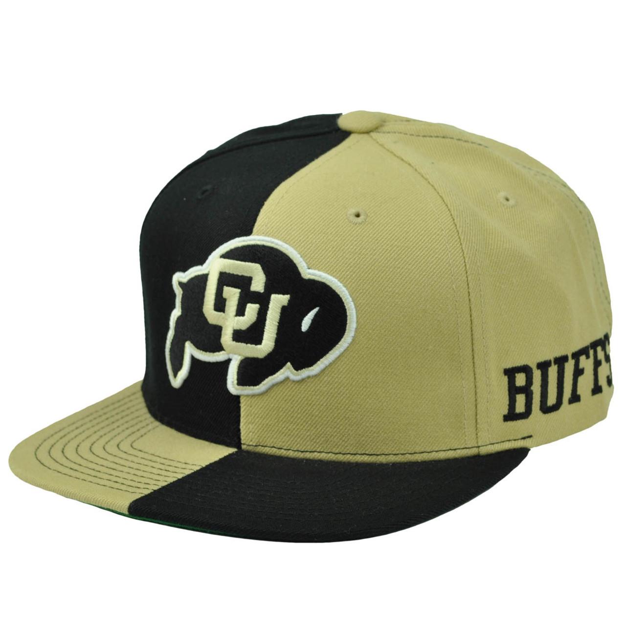 big sale 5f86e cb270 NCAA Starter Colorado Buffaloes Split Black Gold Hat Cap Snapback Flat Bill  - Cap Store Online.com