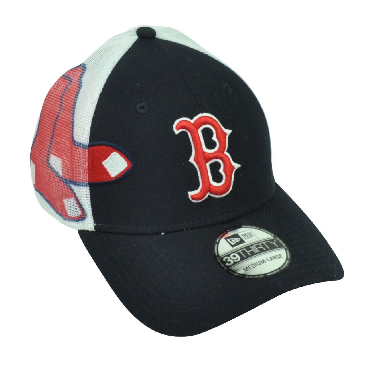 low priced ddc90 65b39 MLB New Era 39Thirty Boston Red Sox Double Mesh Flex Fit Small Medium Hat  Cap - Cap Store Online.com