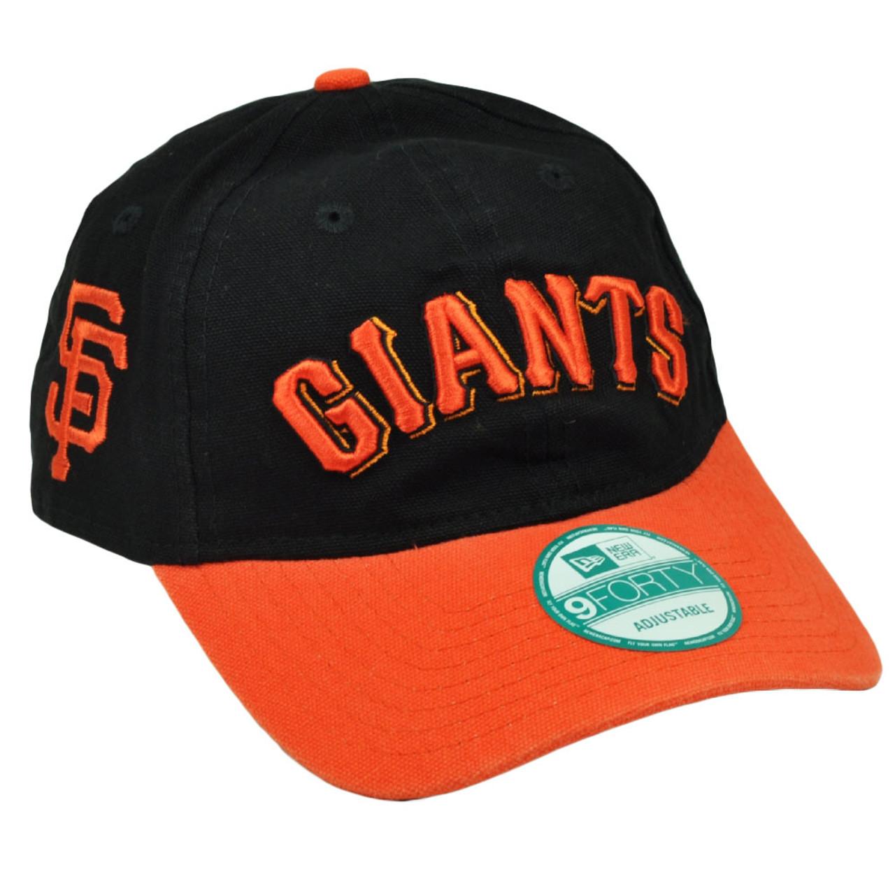 promo code 9d48b 5ff35 MLB New Era 9Forty 940 Team Canvas Clip Buckle San Francisco Giants Hat Cap  Blk - Cap Store Online.com