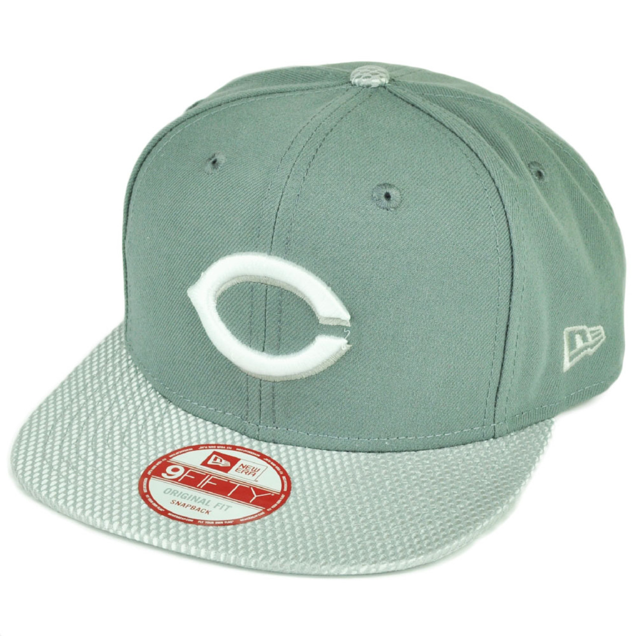 newest df472 66291 MLB New Era 9Fifty Flash Vize Cincinnati Reds Snapback Hat Cap Flat Bill  Gray - Cap Store Online.com