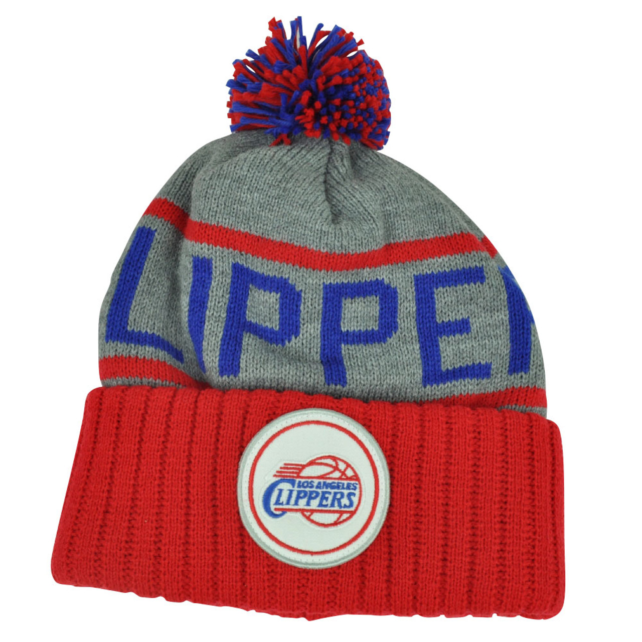 Los Angeles Clippers Cuffed Pom Knit Cap Beanie