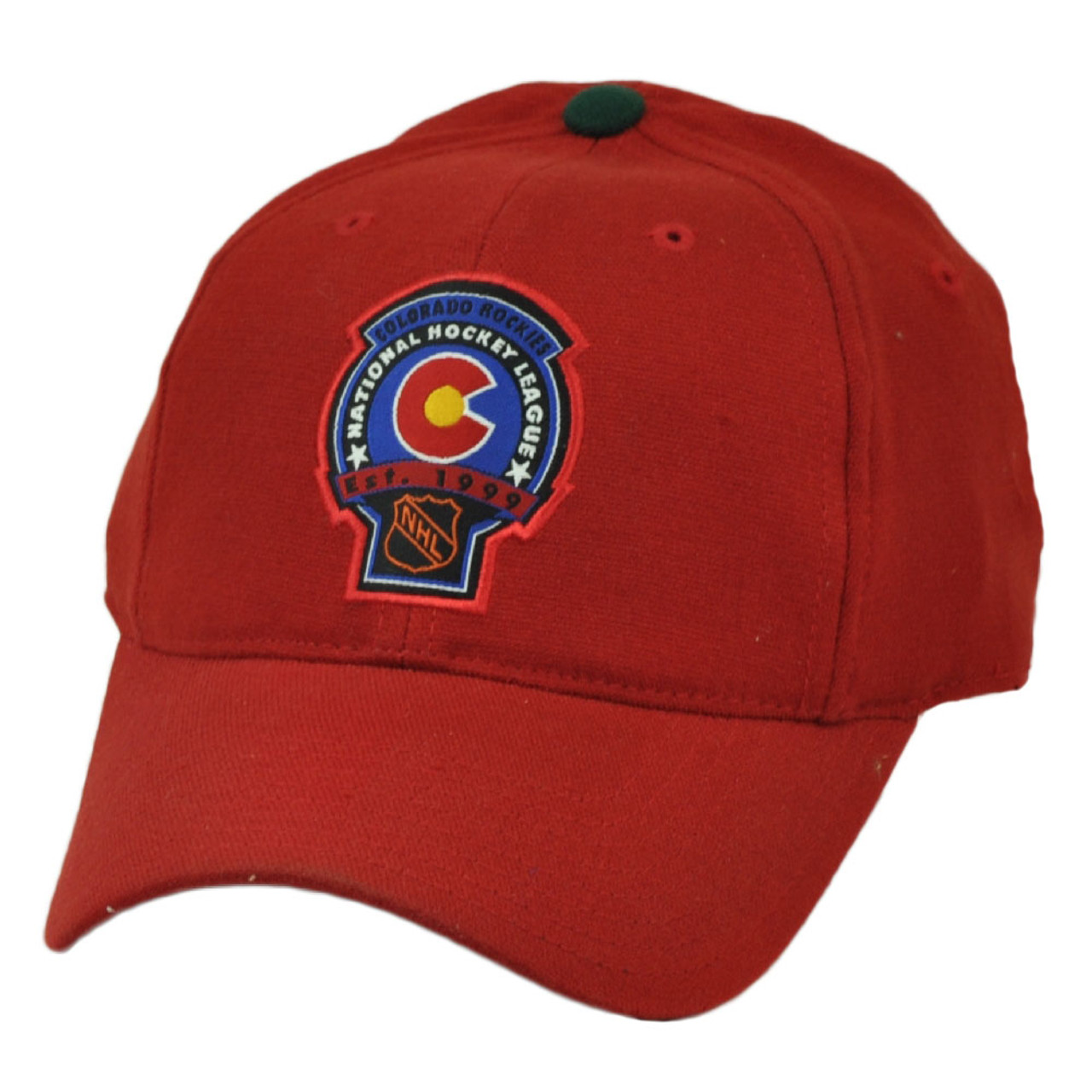 69f5a2b6f79db NHL American Needle Colorado Rockies Flex Fit Large XLarge Stretch Hat Cap  Red - Cap Store Online.com