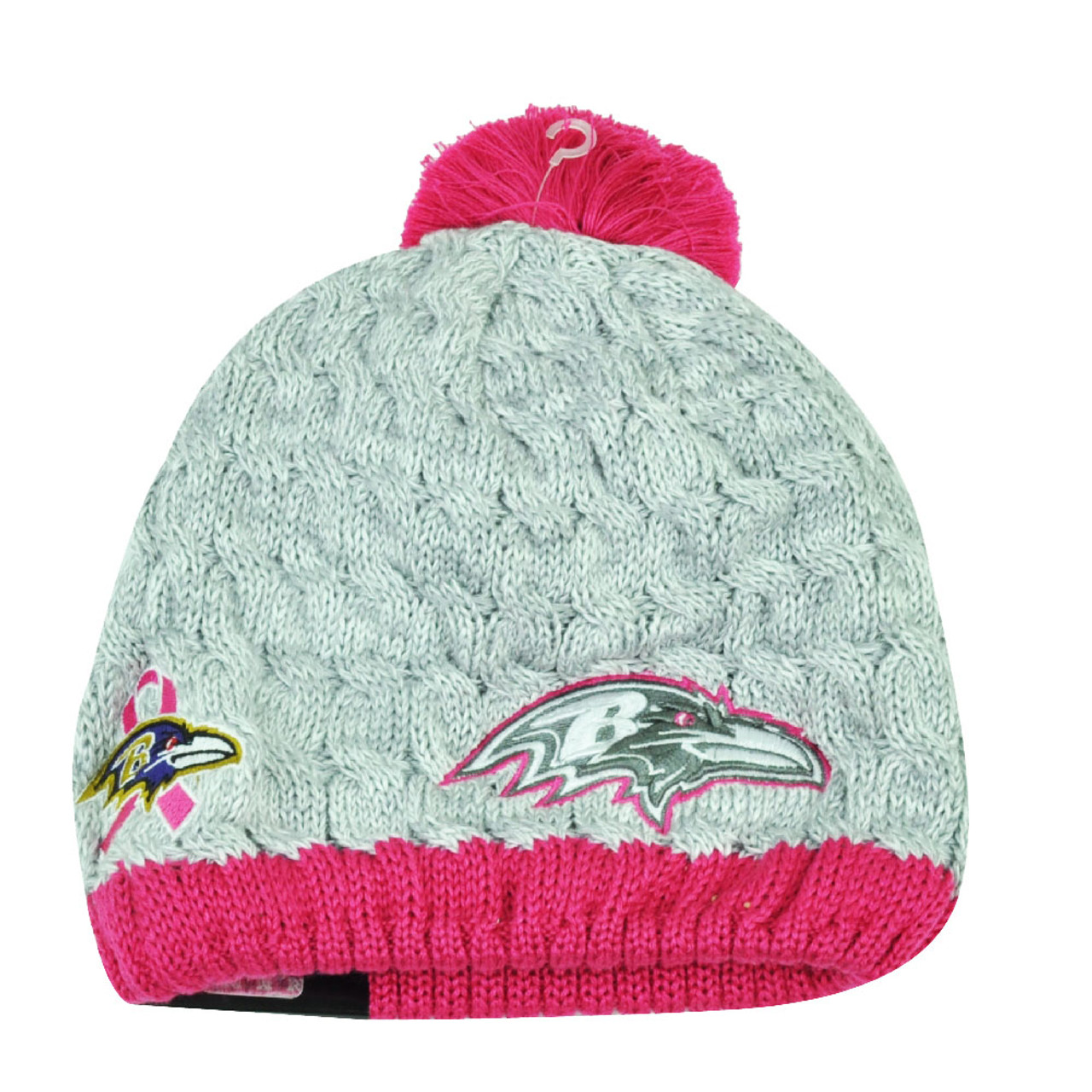 reputable site 4b293 250c2 NFL New Era Breast Cancer Awareness Knit Beanie Baltimore Ravens Pink  Womens Hat