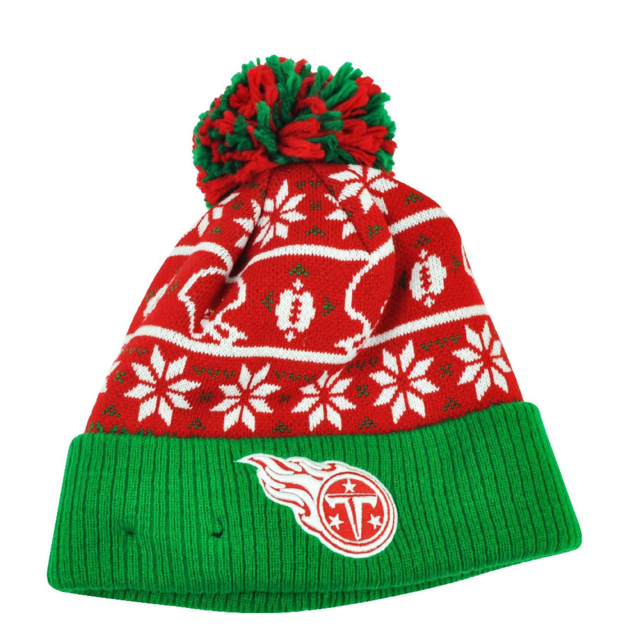 8e1b34b8ab1afb NFL New Era Sweater Chill Tennessee Titans Pom Pom Cuffed Knit Beanie  Winter Hat - Cap Store Online.com