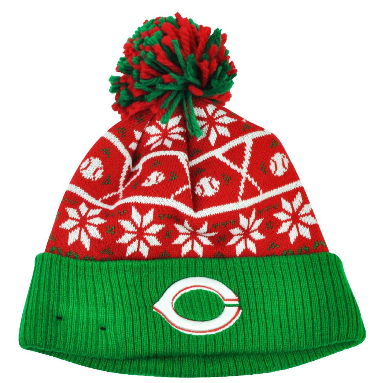 6f48603240d54c MLB New Era Sweater Chill Cincinnati Reds Pom Pom Cuffed Knit Beanie Winter  Hat - Cap Store Online.com