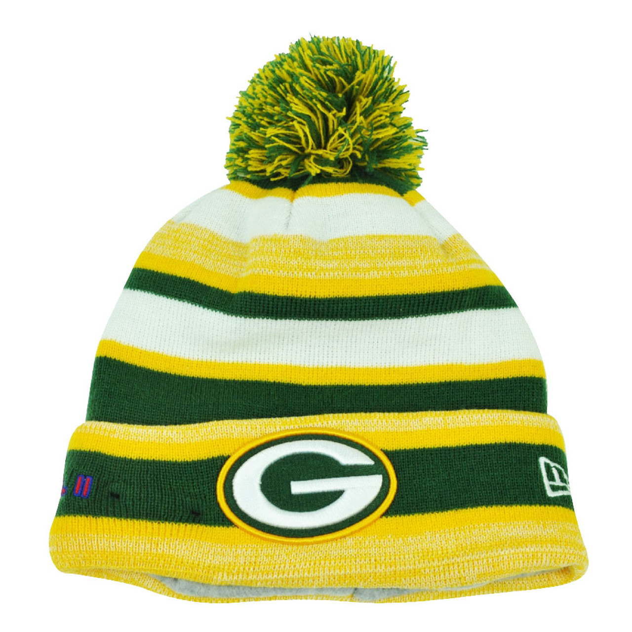 b605b0d4d4cb6e NFL New Era Super Bowl II Sport Knit Green Bay Packers Knit Beanie Striped  Hat - Cap Store Online.com