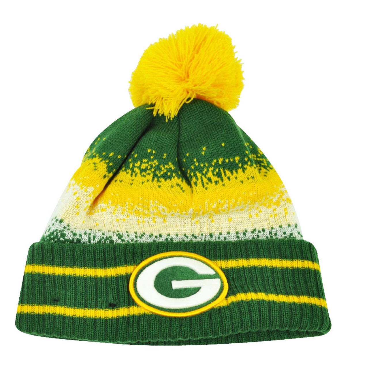 90debc56badeb0 NFL New Era Spec Blend Green Bay Packers Cuffed Pom Pom Knit Beanie Hat  Toque - Cap Store Online.com