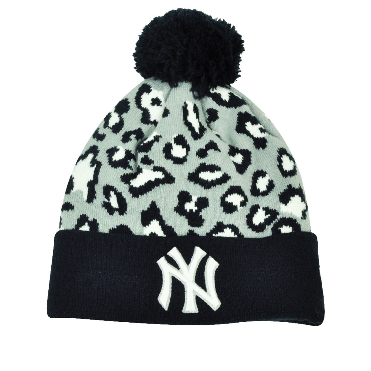 076ace5cc MLB New Era Winter Jungle New York Yankees Cheetah Knit Beanie Cuffed Hat  Toque - Cap Store Online.com