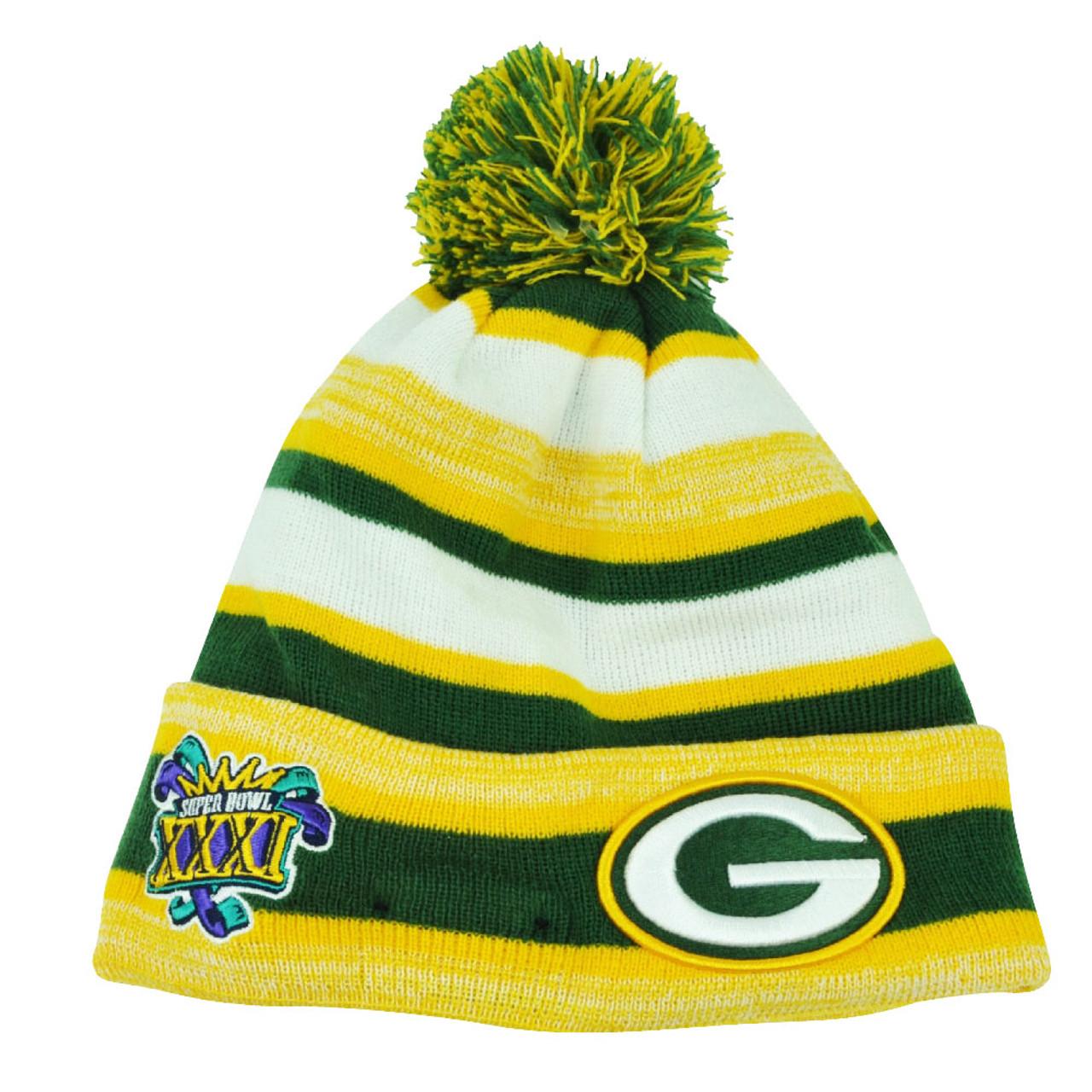 d245fb2d NFL New Era Super Bowl XXXI Sport Knit Green Bay Packers Knit Beanie Cuffed