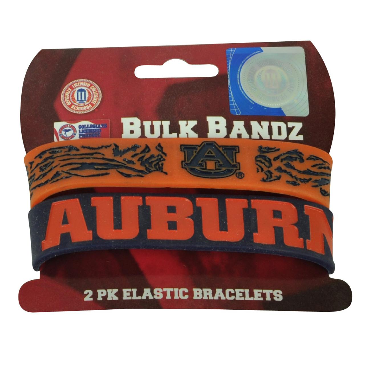 064495640b9 NCAA Auburn University Tigers Bracelet 2 Piece Elastic Band Fan Womens  Ladies - Cap Store Online.com