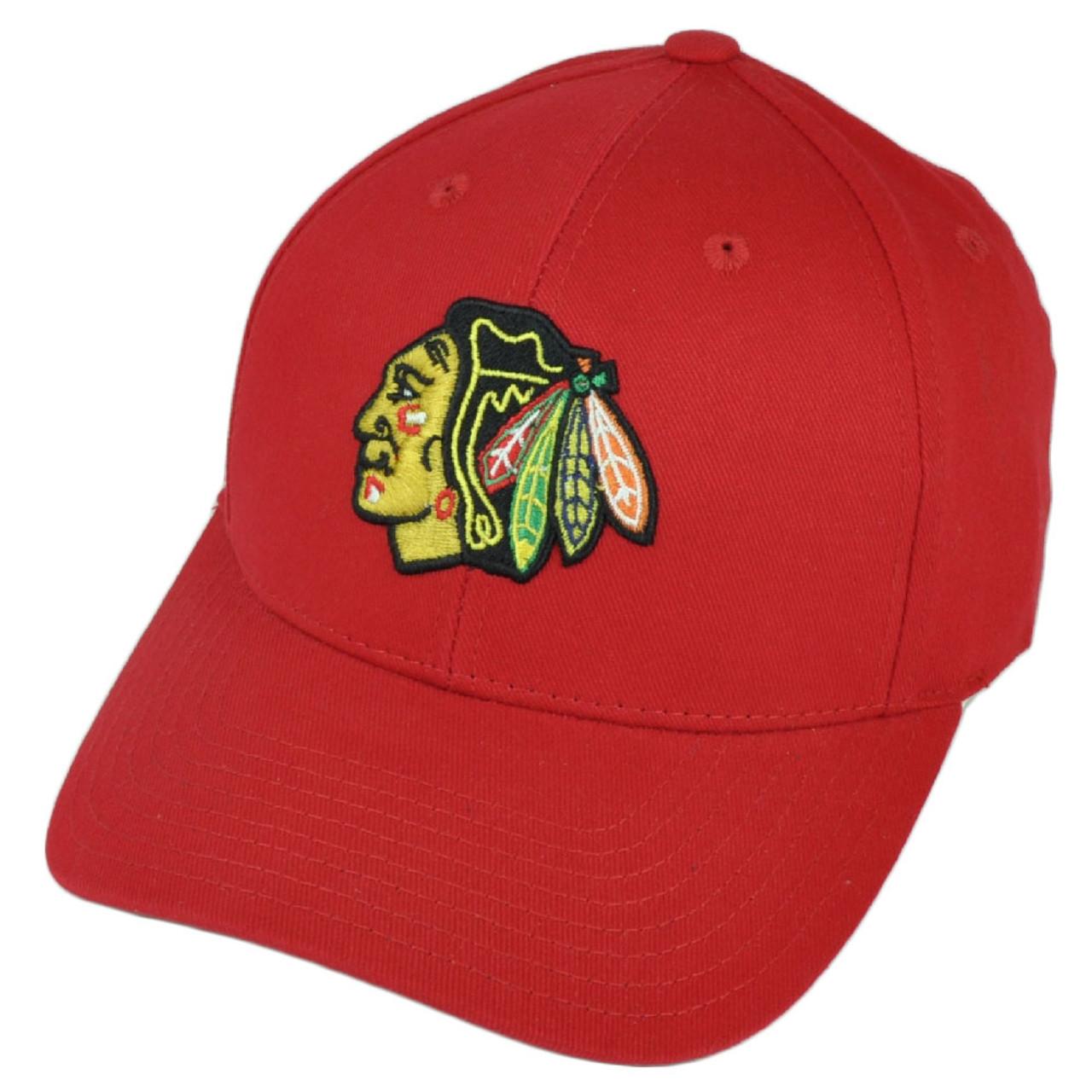 brand new 0b43c d3459 NHL American Needle Chicago Blackhawks Hat Cap Red Adjustable Headgear