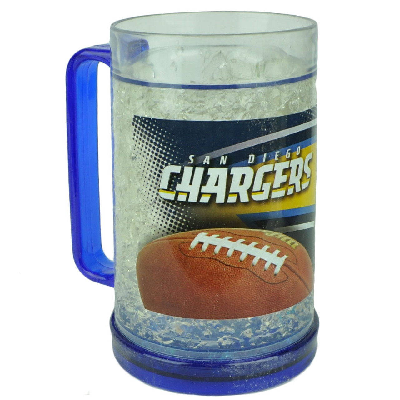 e23f553a NFL San Diego Chargers 16oz Color Freezer Mug Crushed Ice Beer Drinks Cup  Sports
