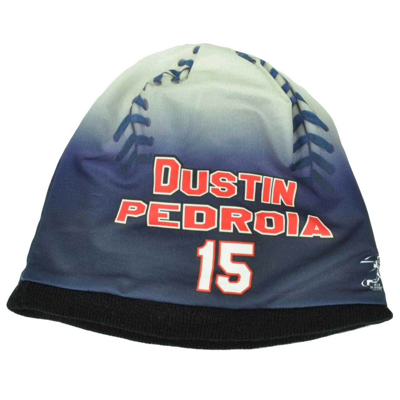 f7370cd45829f4 Boston Red Sox Mens Baseball Knit Beanie Cuffless Blue White Dustin Pedroia  15 - Cap Store Online.com