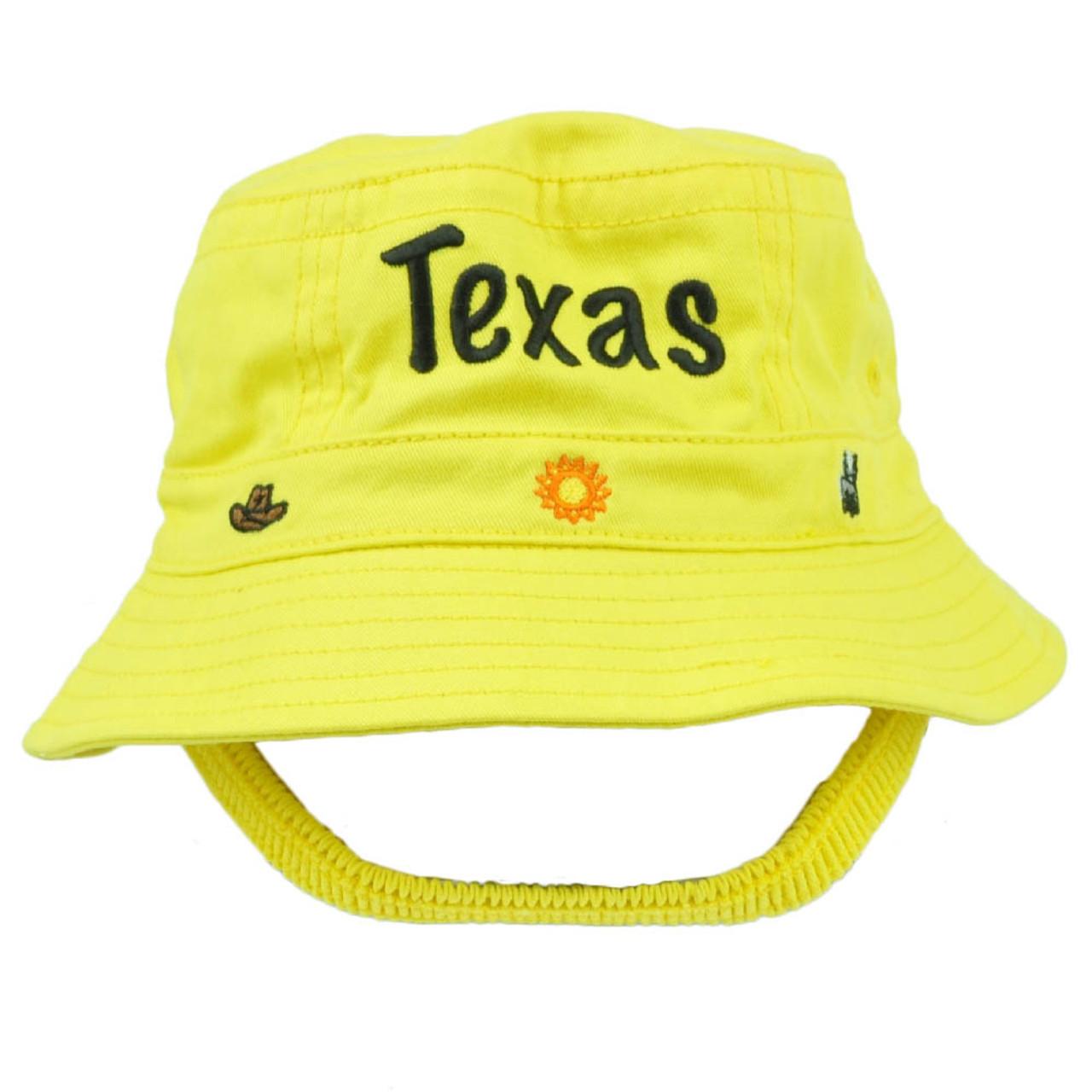 7e07754f689d9 Texas Big State Cowboys Yellow Sun Bucket Hat Beach Hat Toddler USA America  - Cap Store Online.com