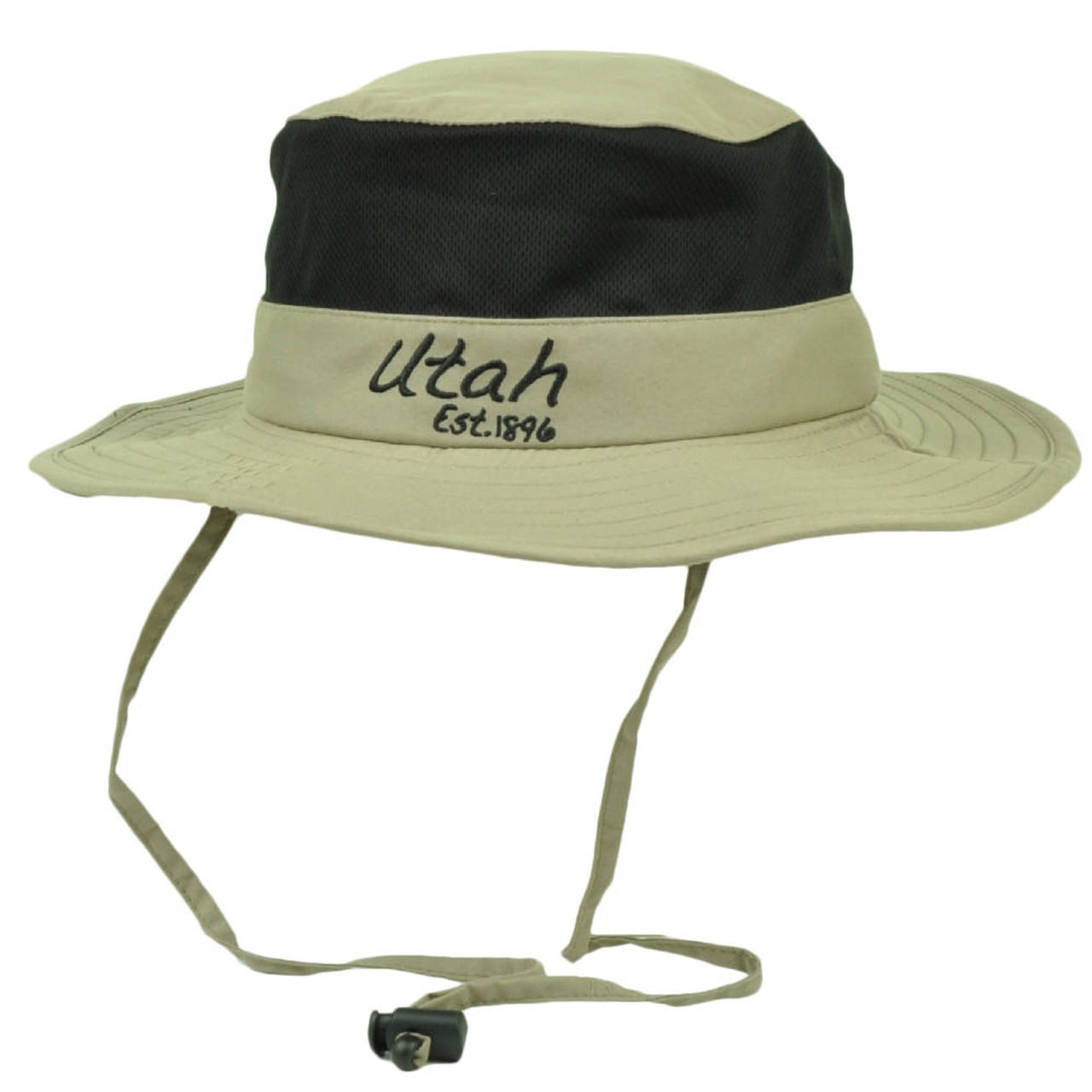 d671f8c0aabd27 Utah State Stone Booney Sun bucket Hat Chin Strap Mesh Band Outdoors USA  Crusher - Cap Store Online.com