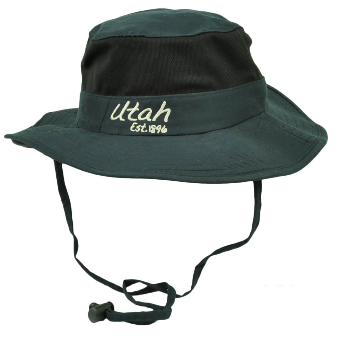 b587ab4288ee74 Utah State Navy Blue Booney Sun bucket Hat Chin Strap Mesh Band Outdoors  USA - Cap Store Online.com